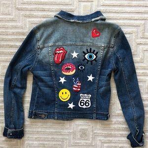 Jet Brand Patch Denim Jacket